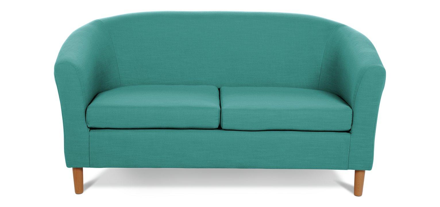 Habitat 2 Seater Fabric Tub Sofa - Teal
