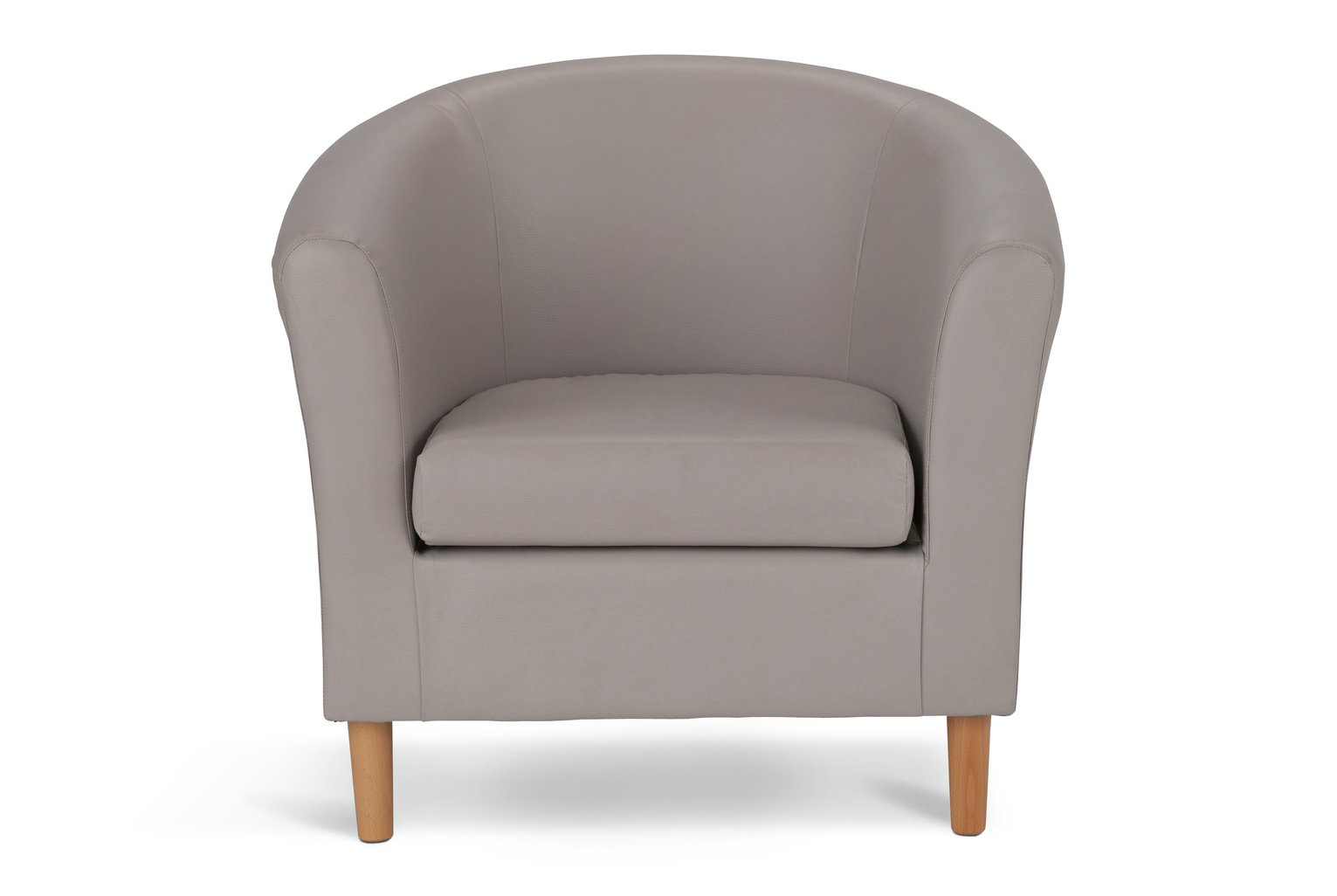 Argos Home Faux Leather Tub Chair - Mocha