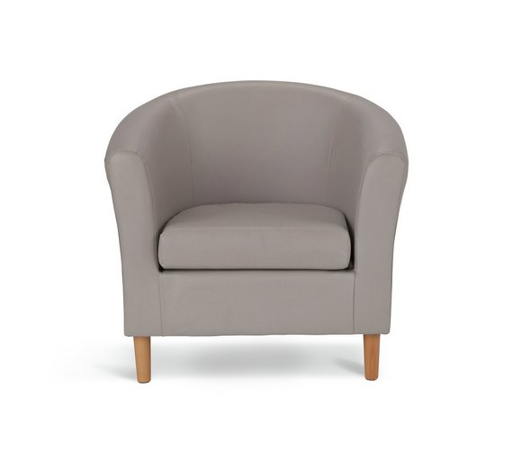 buy argos home leather effect tub chair mocha armchairs and