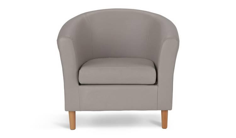 a9769ac54465ba Buy Argos Home Faux Leather Tub Chair - Mocha