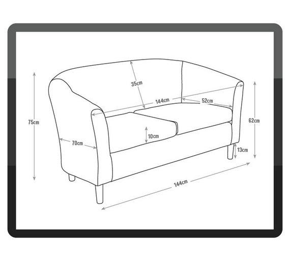 buy argos home 2 seater fabric tub sofa brown sofas argos
