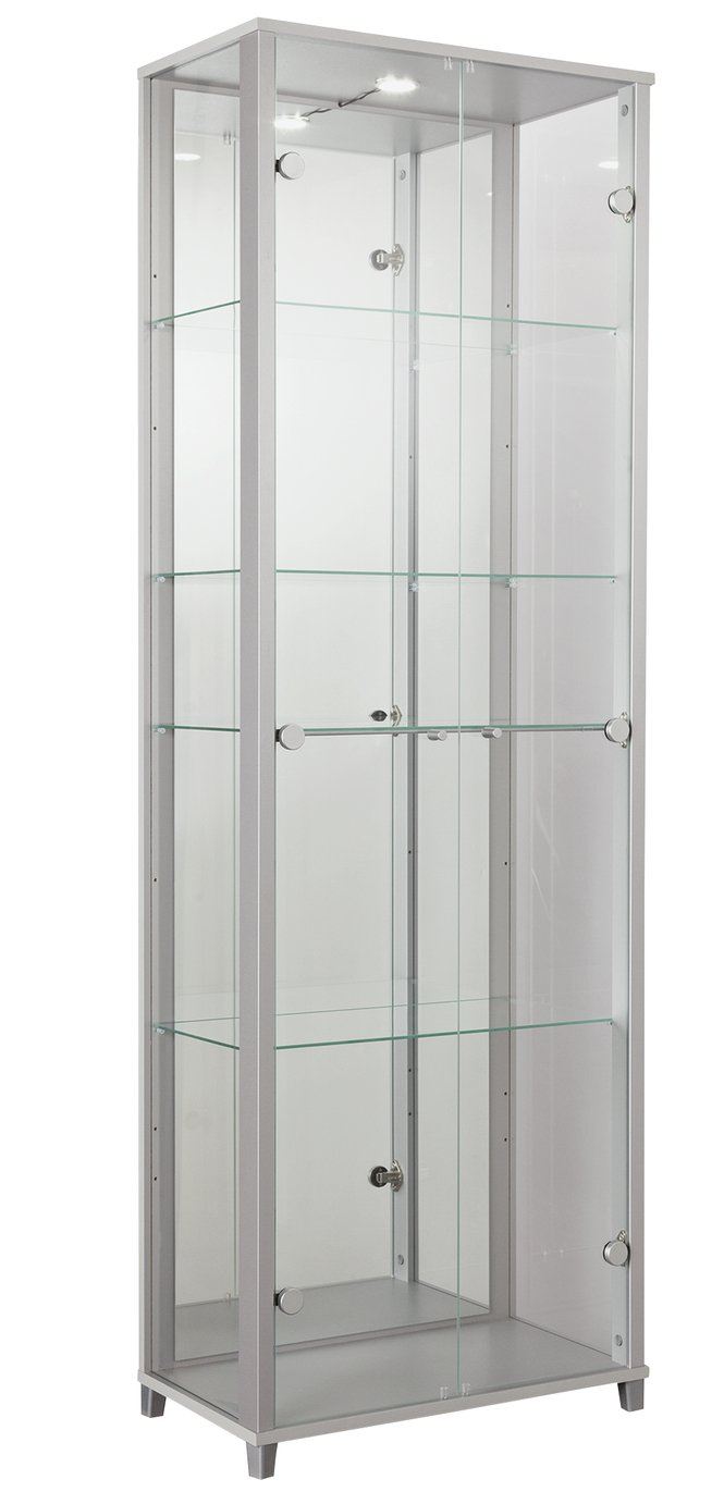 Argos Home 2 Door Glass Display Cabinet - Silver