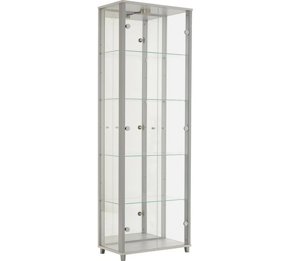 HOME 2 Door Glass Display Cabinet