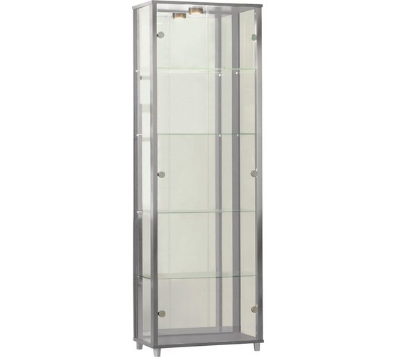 glass display cabinet argos. Black Bedroom Furniture Sets. Home Design Ideas