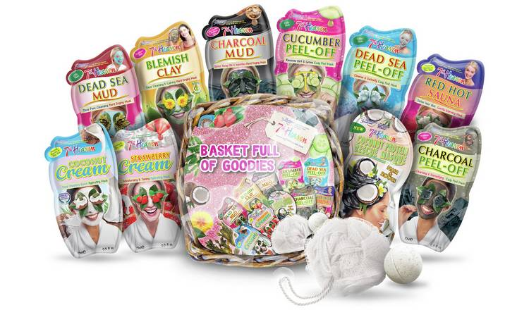 7th Heaven Face Mask Gift Basket Full of Goodies