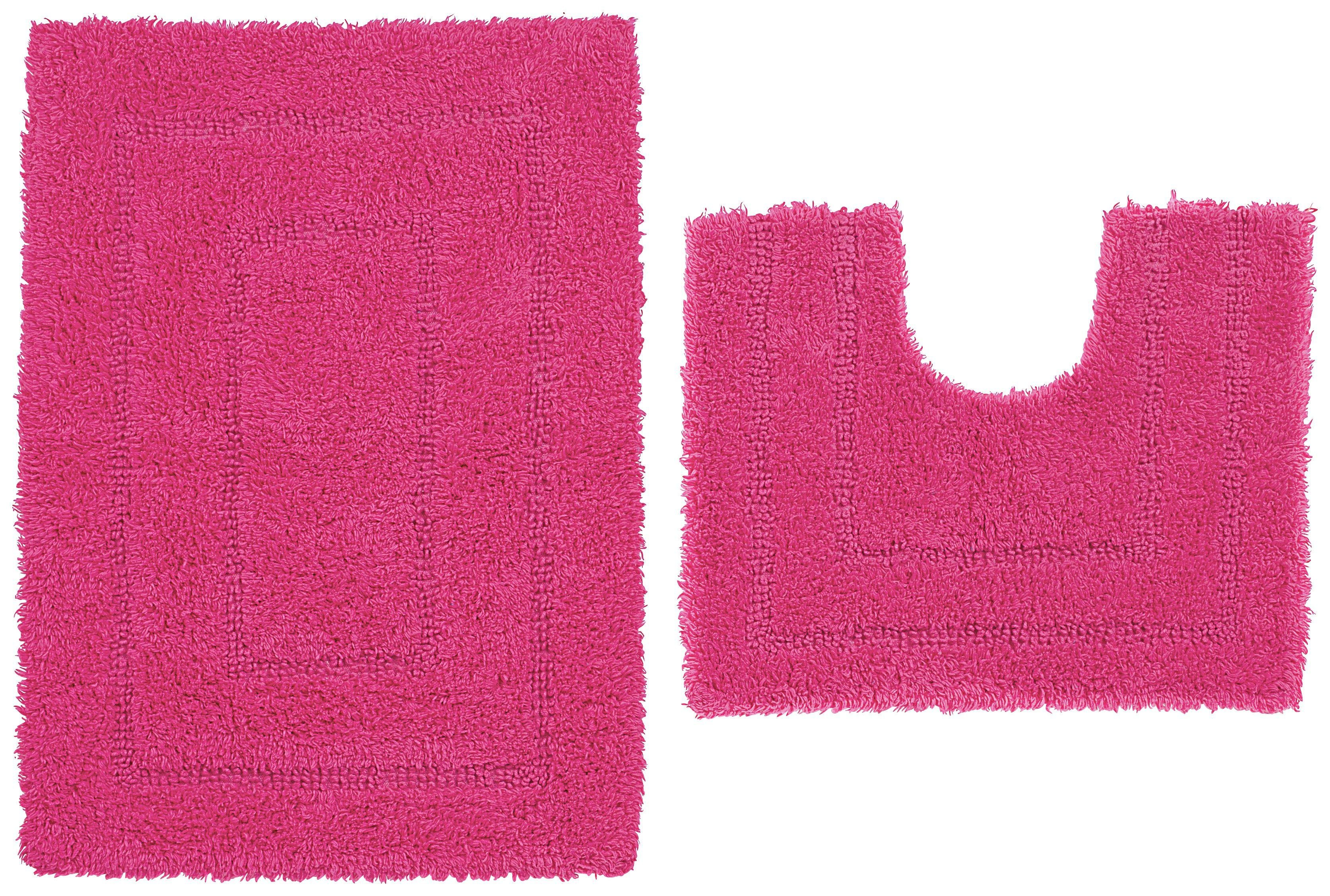 ColourMatch - Bath & Pedestal Mat Set - Funky Fuchsia