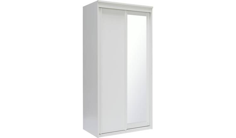 Argos Home Hallingford 2 Dr Mirror Sliding Wardrobe - White