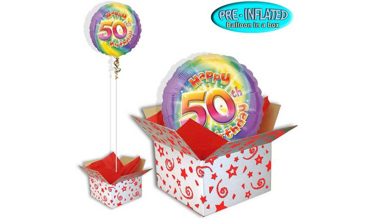 Happy 50th Birthday Balloon In A Box245 9594