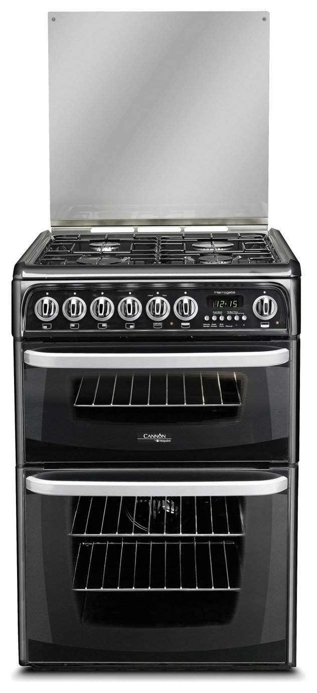 Hotpoint CH60DHKFS Dual Fuel Cooker - Black