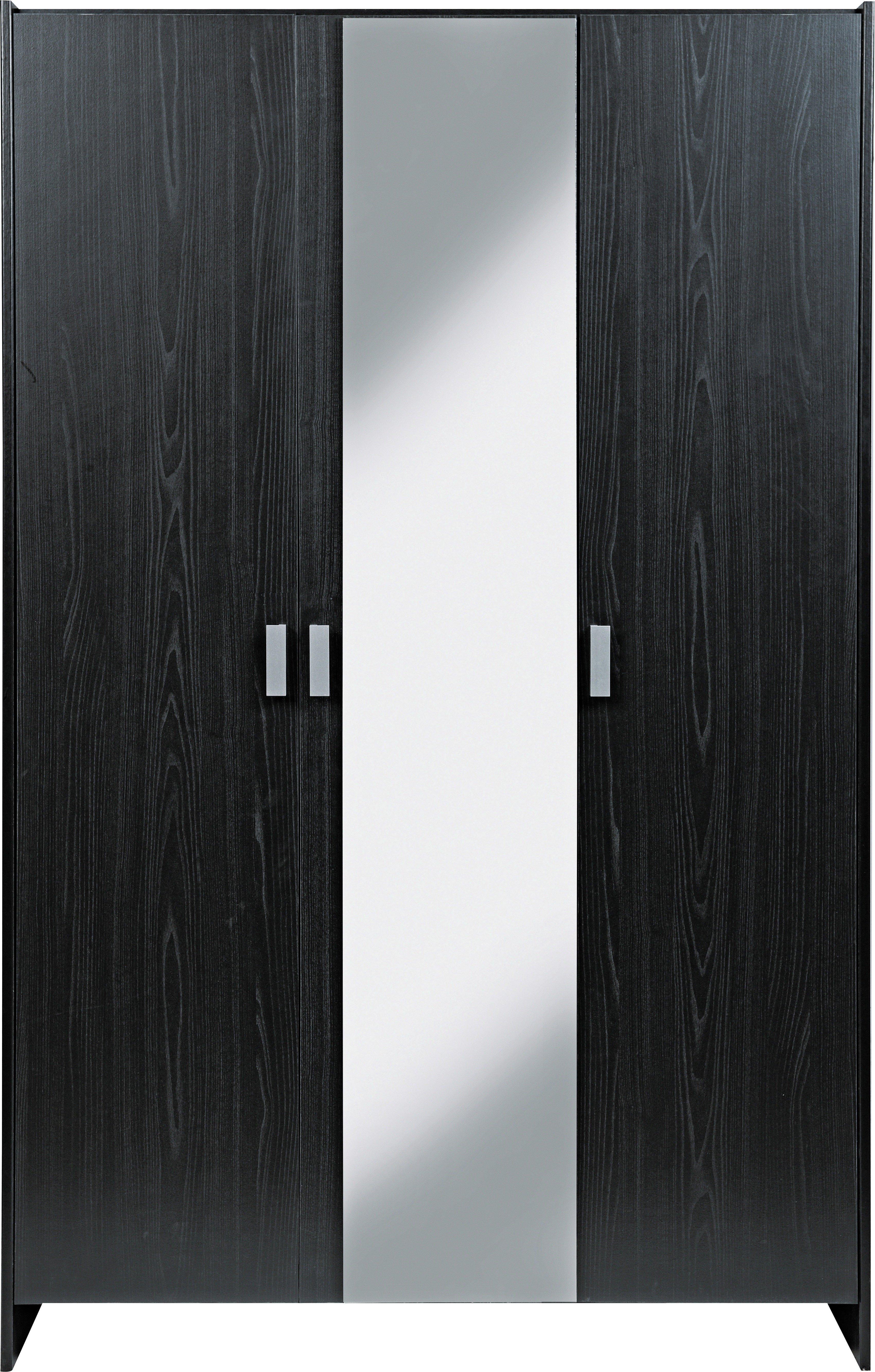 Argos Home New Capella 3 Door Mirrored Wardrobe Black