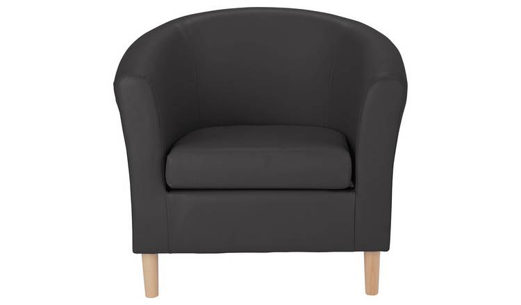 Fantastic Buy Argos Home Faux Leather Tub Chair Black Armchairs And Chairs Argos Andrewgaddart Wooden Chair Designs For Living Room Andrewgaddartcom