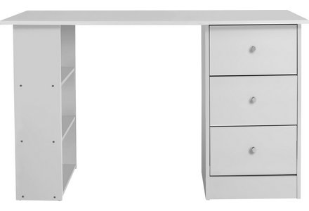 HOME New Malibu 3 Drawer Dressing Table - White.