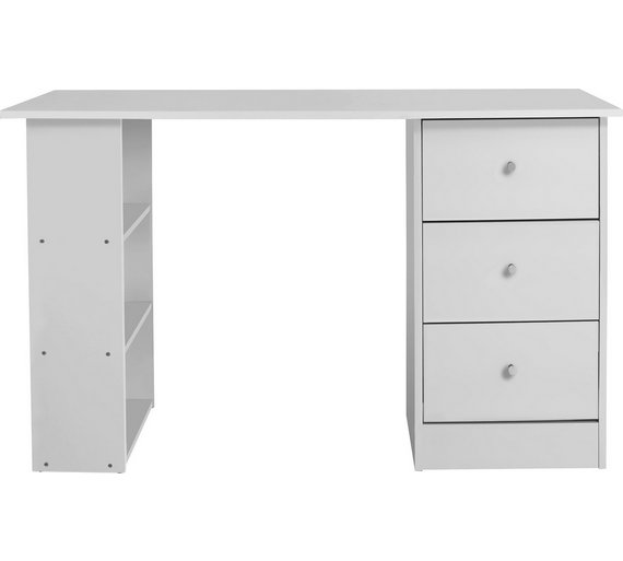 Buy Home New Malibu 3 Drawer Dressing Table White At