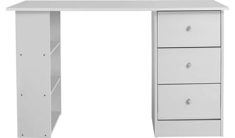 Argos Home Malibu 3 Drawer Office Desk - White
