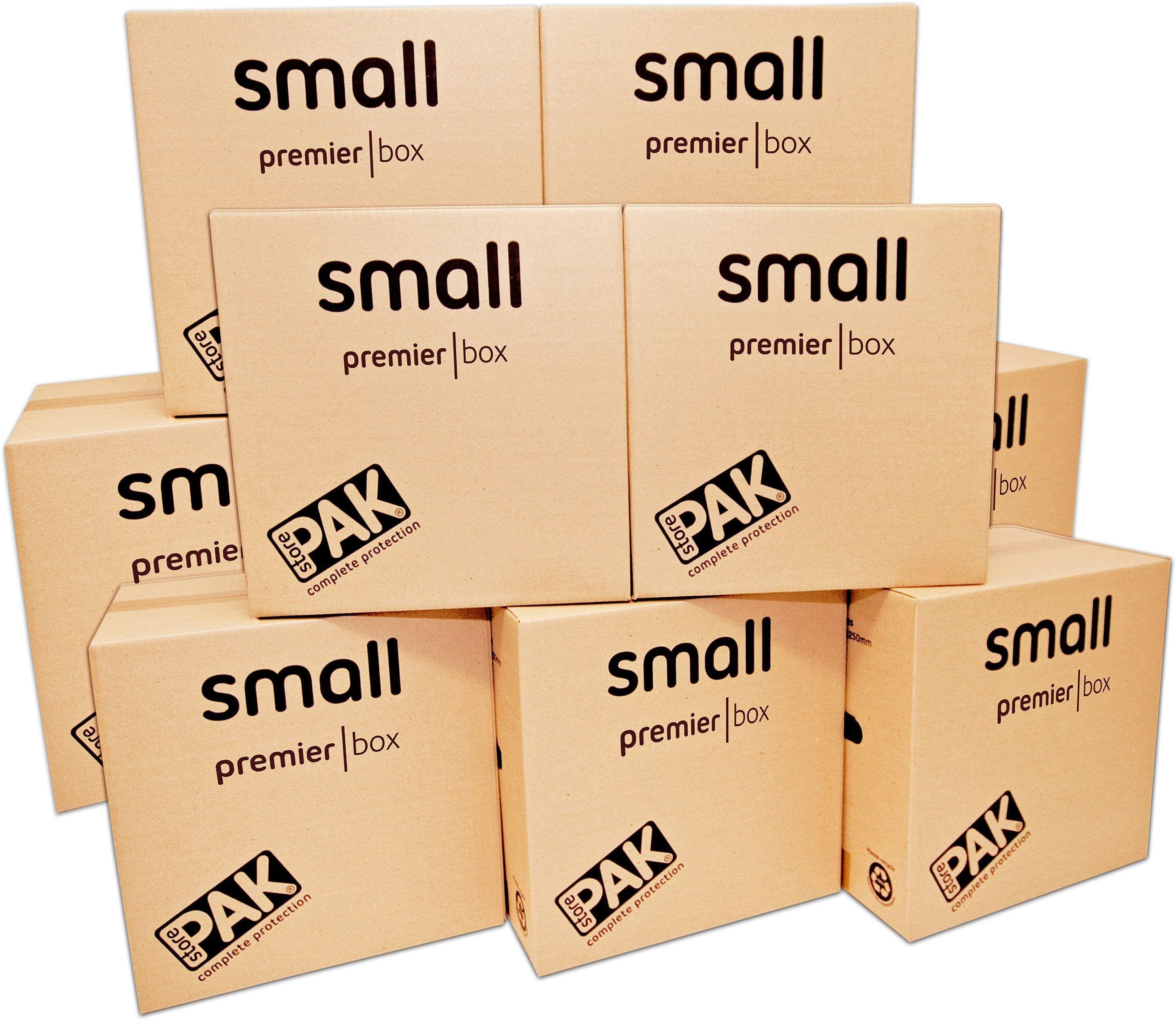 StorePAK Heavy Duty Small Cardboard Boxes - Set of 10