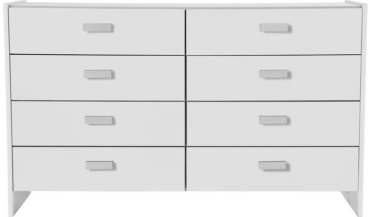 Argos Home Capella 4+4 Drawer Chest - White