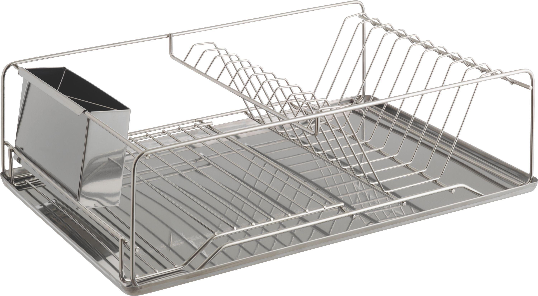Image of Habitat - Decker Stainless Steel Dish Drainer