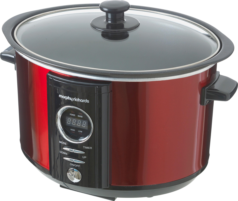 Image of Morphy Richards - 460005 Digital - Slow Cooker - 35 L - Red