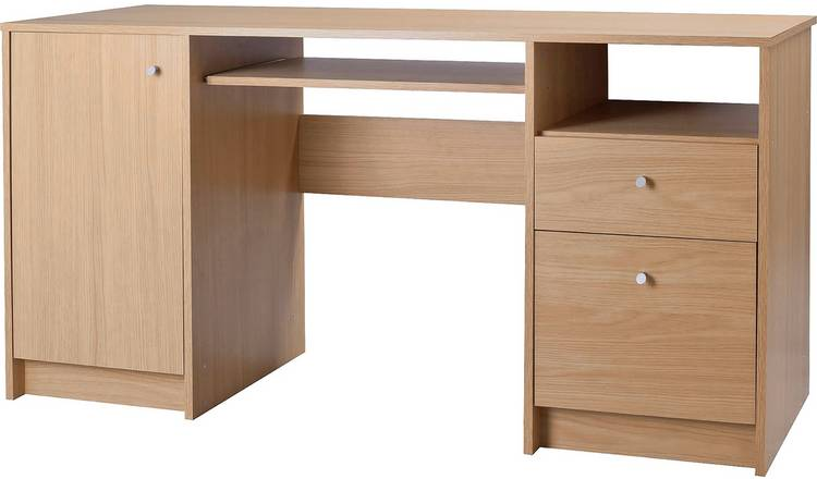 0c1573b3af86 Argos Home Calgary 2 Drw Pedestal Desk & Filer - Oak Effect246/9405