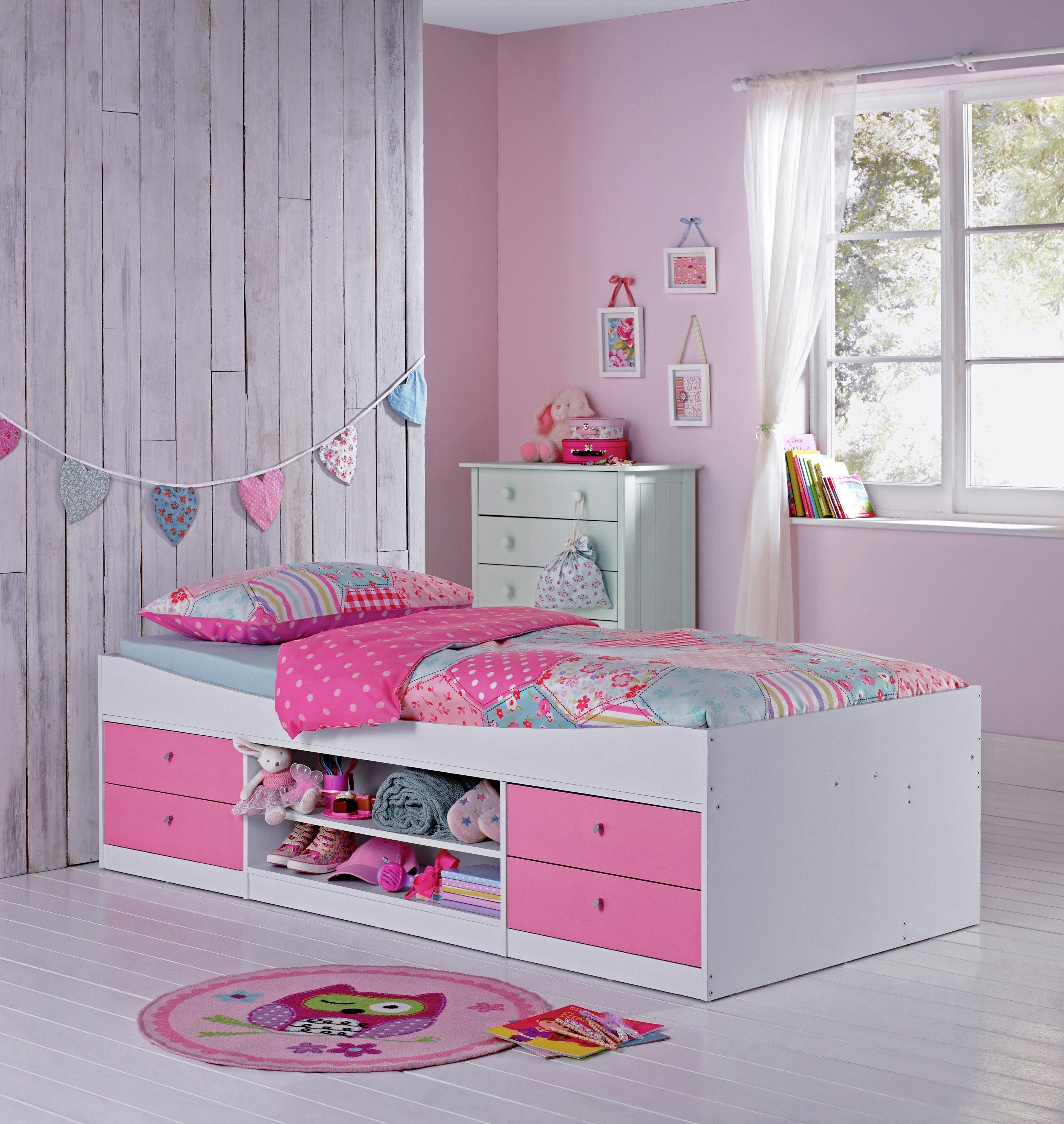 Argos Home Malibu Pink & White Cabin Bed Frame