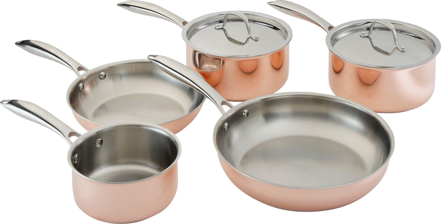 click to zoom - Copper Cookware Set