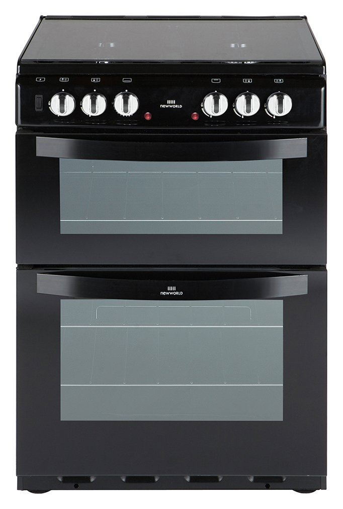 New World - 601DFDOL Double - Dual Fuel Cooker - Black