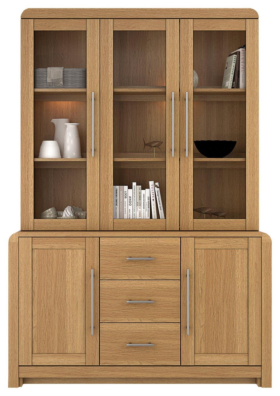 Argos Home Elford 5 Door 3 Drawer Cabinet - Oak Effect