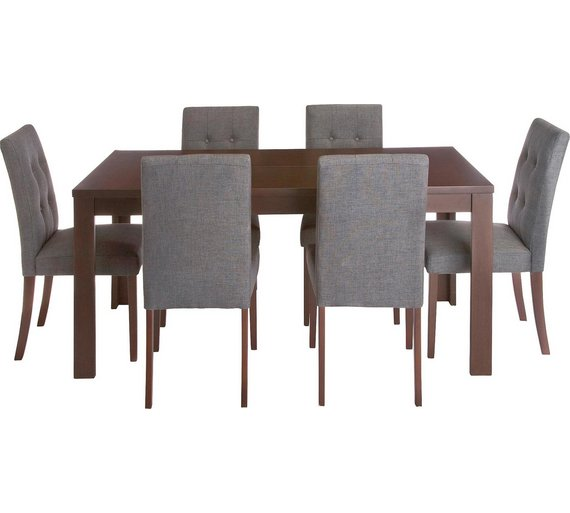 Collection Adaline Ext Oak Vnr Table   6 Chairs   CharcoalBuy Collection Adaline Ext Oak Vnr Table   6 Chairs   Charcoal at  . Adaline Walnut Extendable Dining Table And 6 Chairs. Home Design Ideas