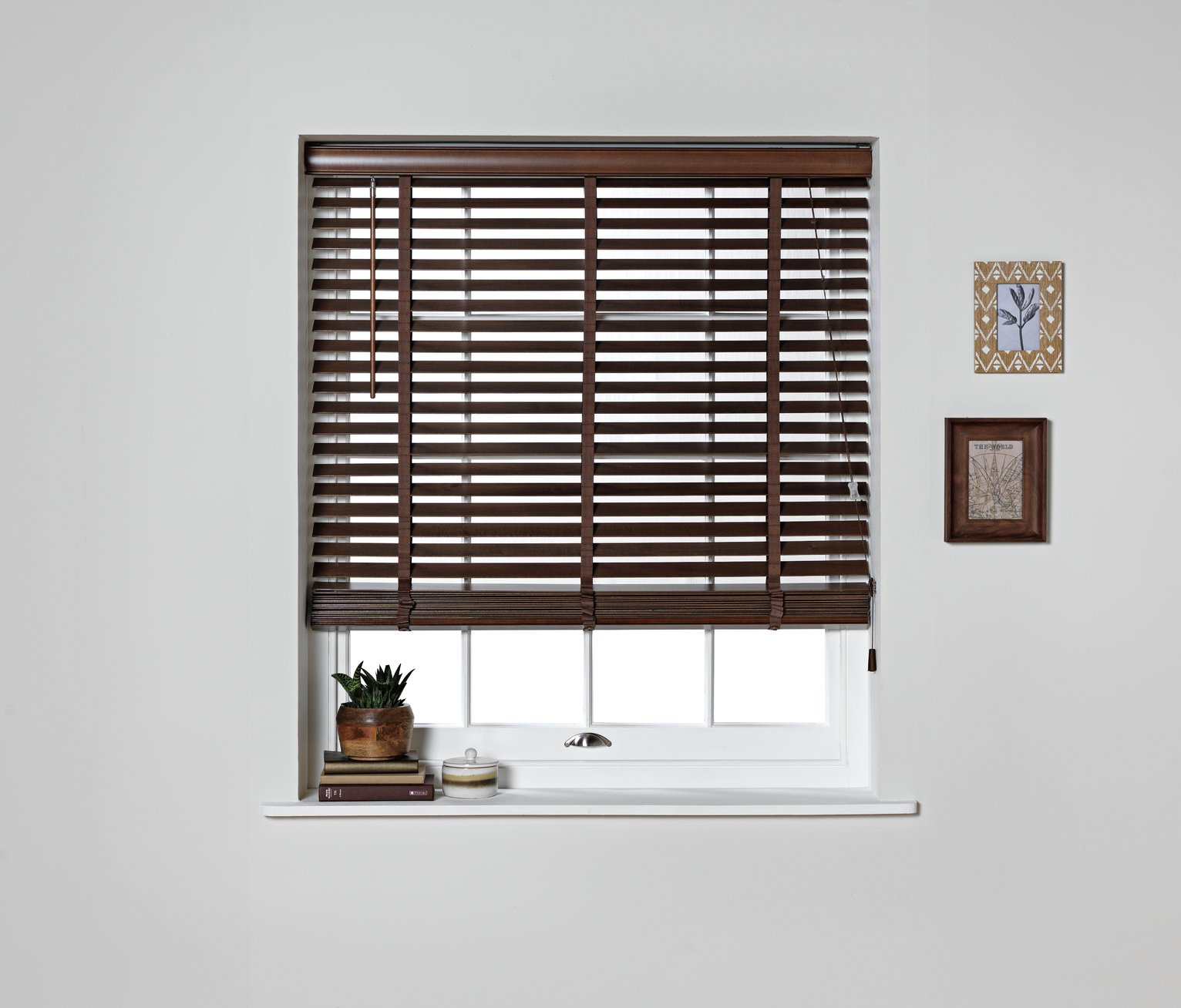 Argos Home Elliott Wooden Tape Blind - 2ft - Walnut