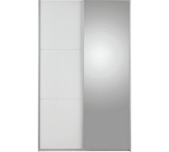 Buy Hygena Bergen 2 Door Small Sliding Mirrored Wardrobe