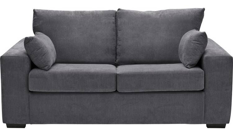Buy Argos Home Eton 2 Seater Fabric Sofa Bed - Charcoal | Sofa beds | Argos