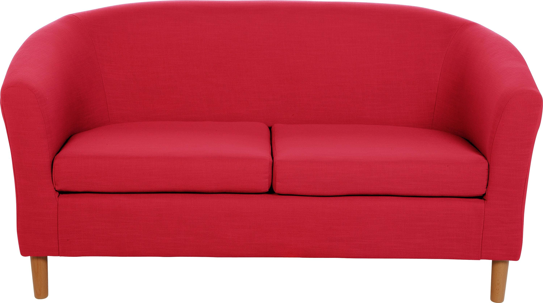 Argos Home 2 Seater Fabric Tub Sofa - Red