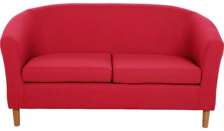 Argos Home 2 Seater Fabric Tub Sofa - Red