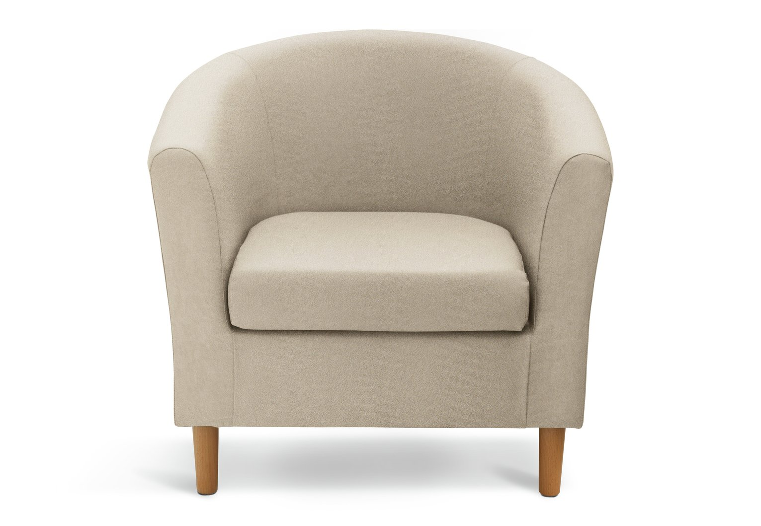 Argos Home Fabric Tub Chair - Mocha
