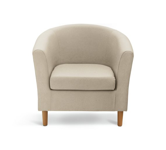 Buy HOME Fabric Tub Chair - Mocha at Argos.co.uk - Your Online ...