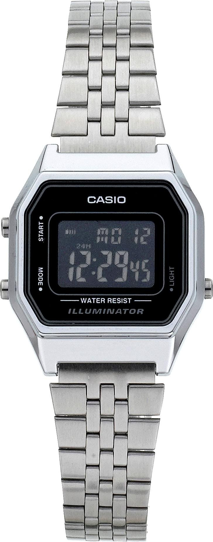 'Casio - Silver Tone Black Dial Digital - Watch