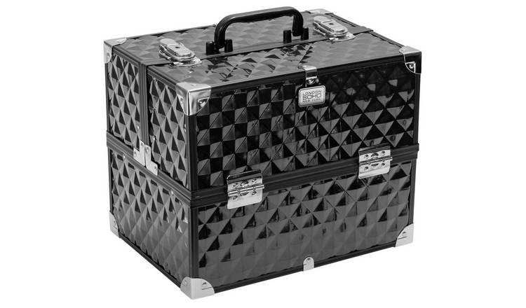 SOHO Black Digital Diamond Large Vanity Case