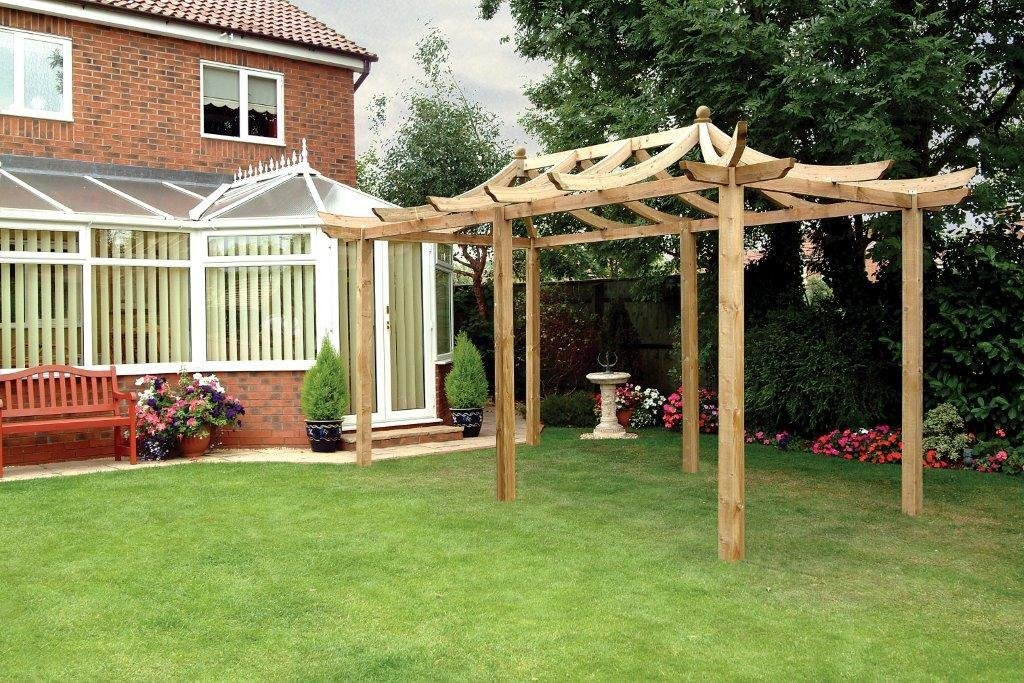 Grange Fencing Dragon Pergola Extended with Long Posts.