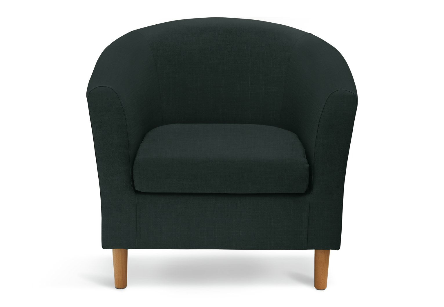 Argos Home Fabric Tub Chair - Black