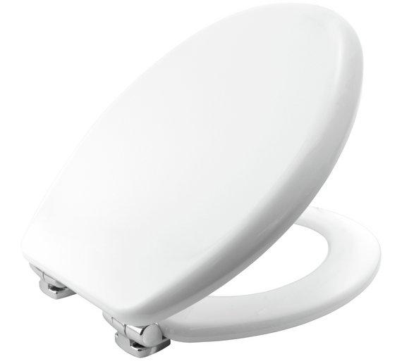 Buy Bemis Vegas Statite Slow Close Toilet Seat White At Argosco - Bemis white toilet seat