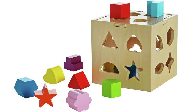 Buy Chad Valley Playsmart Wooden Shape Sorter Early Learning Toys Argos