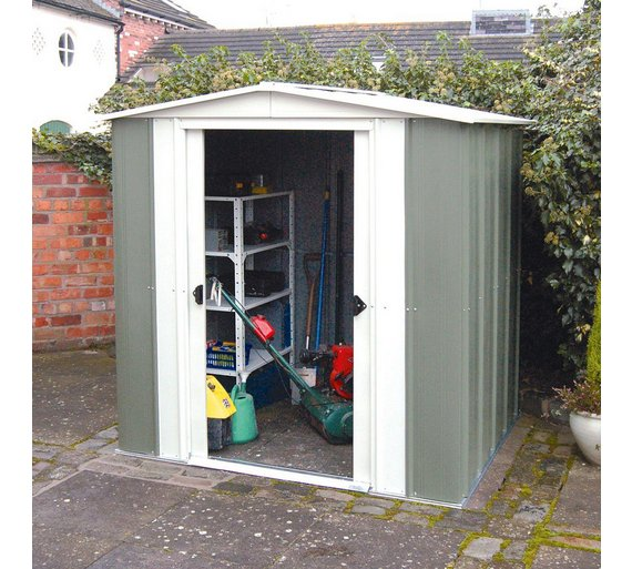 Buy Rowlinson Greenvale Metal Apex Shed
