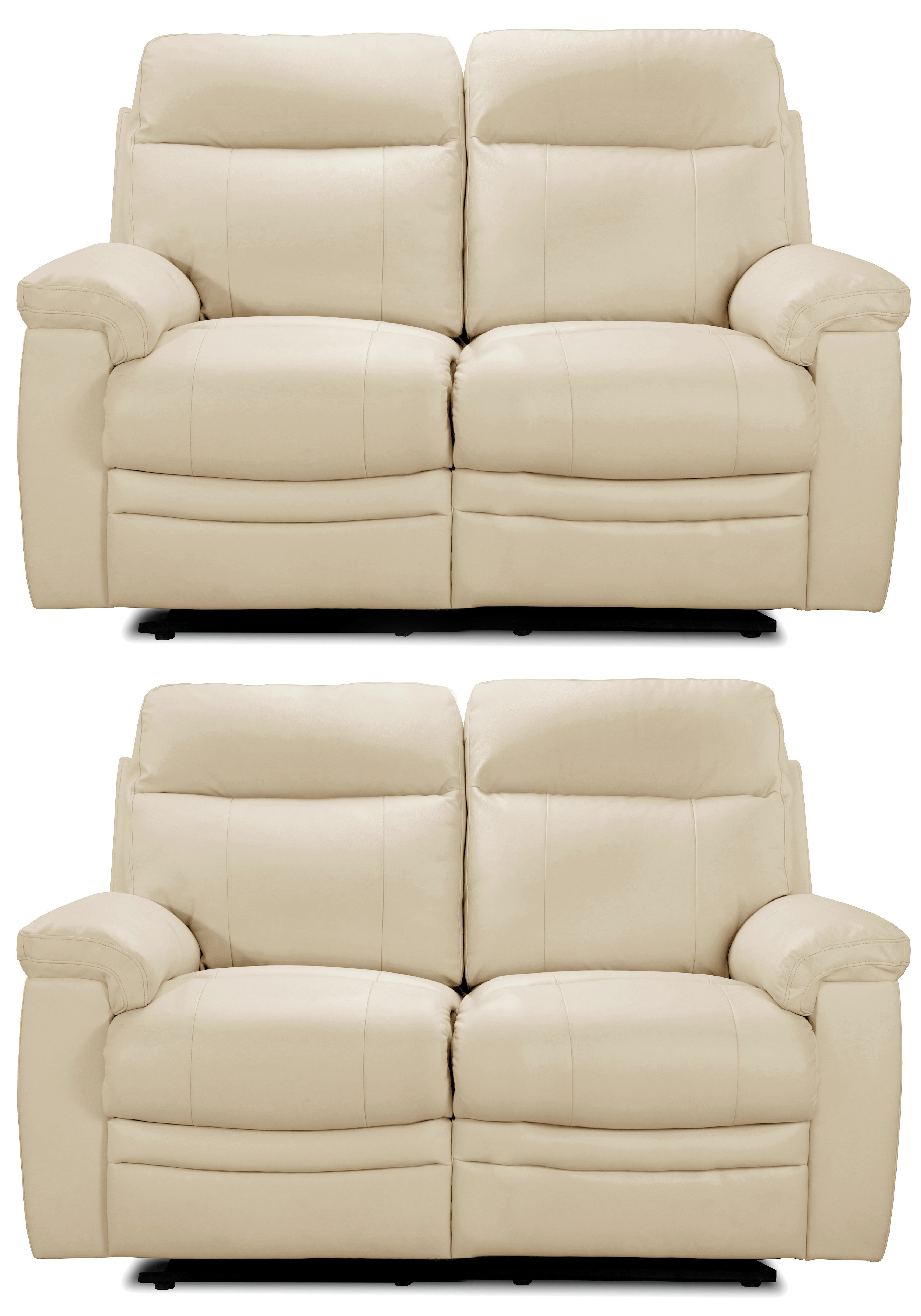 Collection - New Paolo Reg and Reg Recliner - Sofa - Ivory