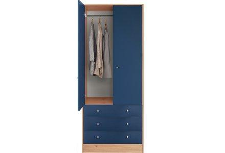 HOME Kids New Malibu 2 Door 3 Drawer Wardrobe - Blue /Pine.
