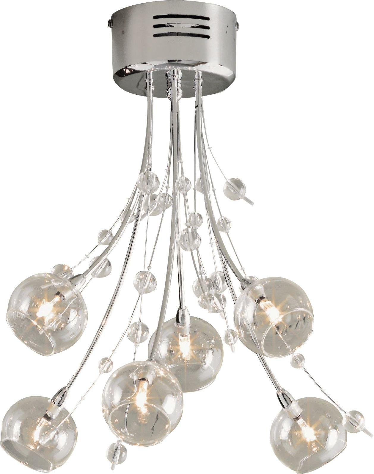 Argos Home Sophie 6 Light Ceiling Fitting - Chrome