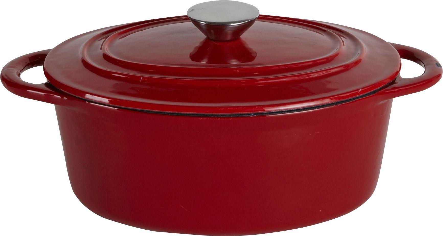 Heart of House - 27cm Cast Iron Oval Casserole Dish