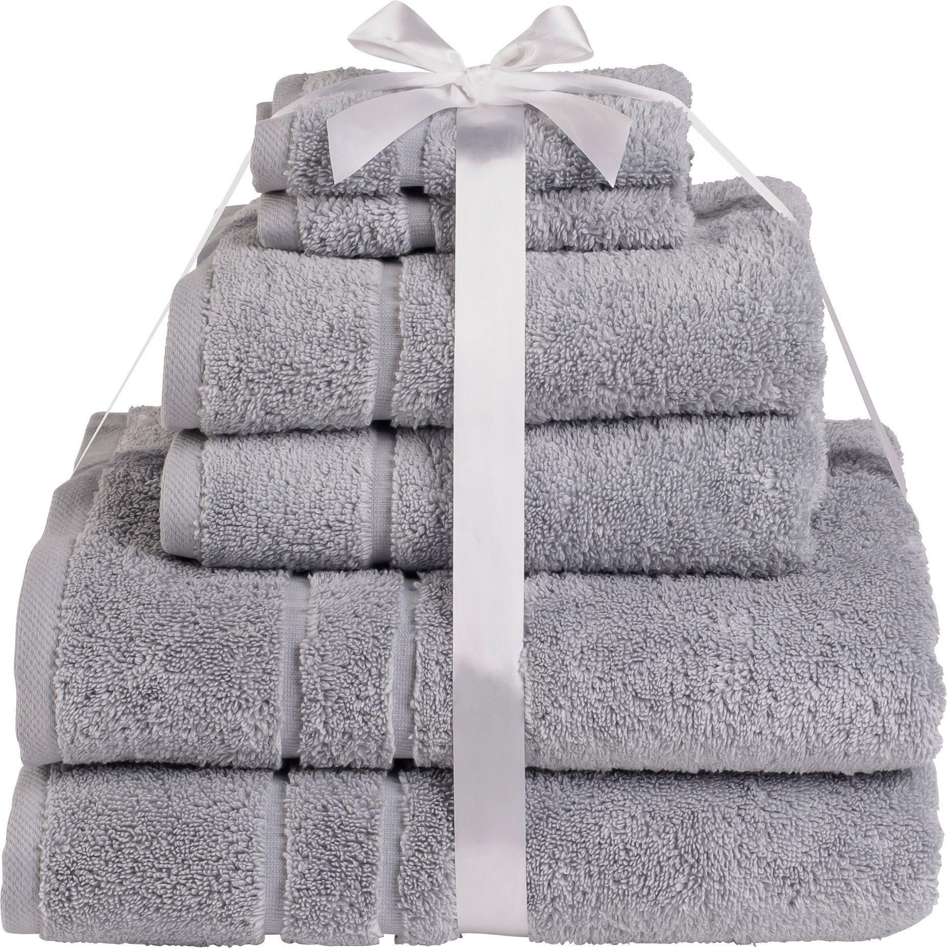 HOME - Zero Twist 6 Piece - Towel Bale - Dove Grey