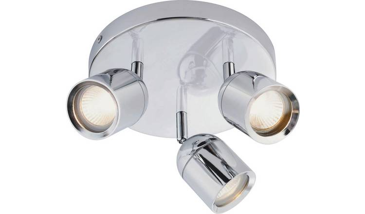 Argos Home Baretta 3 Light Bathroom Spotlight - Chrome