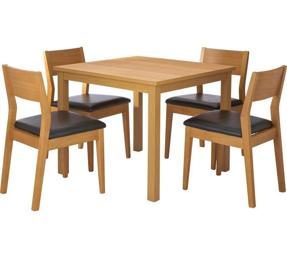 click to zoom - Square Wood Dining Table