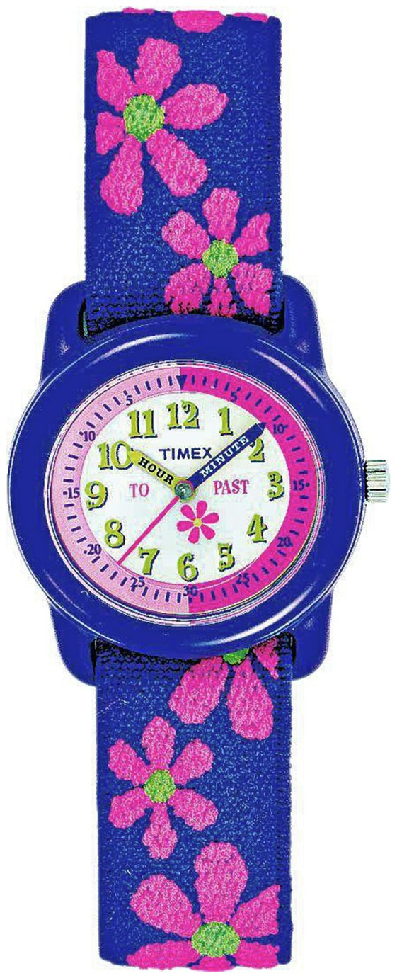 Timex Purple Teacher Fabric Strap Watch